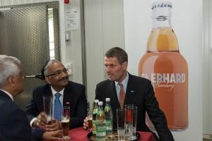 Brauereibesichtigung des Vorstands der deutsch-indischen Handelskammer