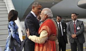 Narendra Modi  and Barack Obama in New Delhi