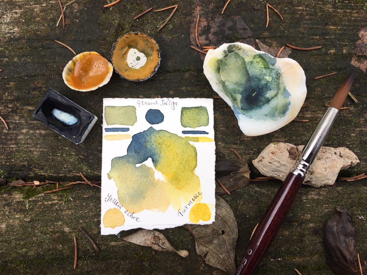 How 'Green' is your Green watercolour ?!