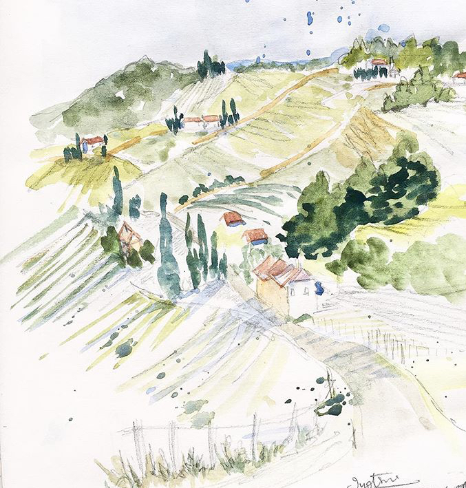 Sketching and foraging for pigments in Southeast Styria